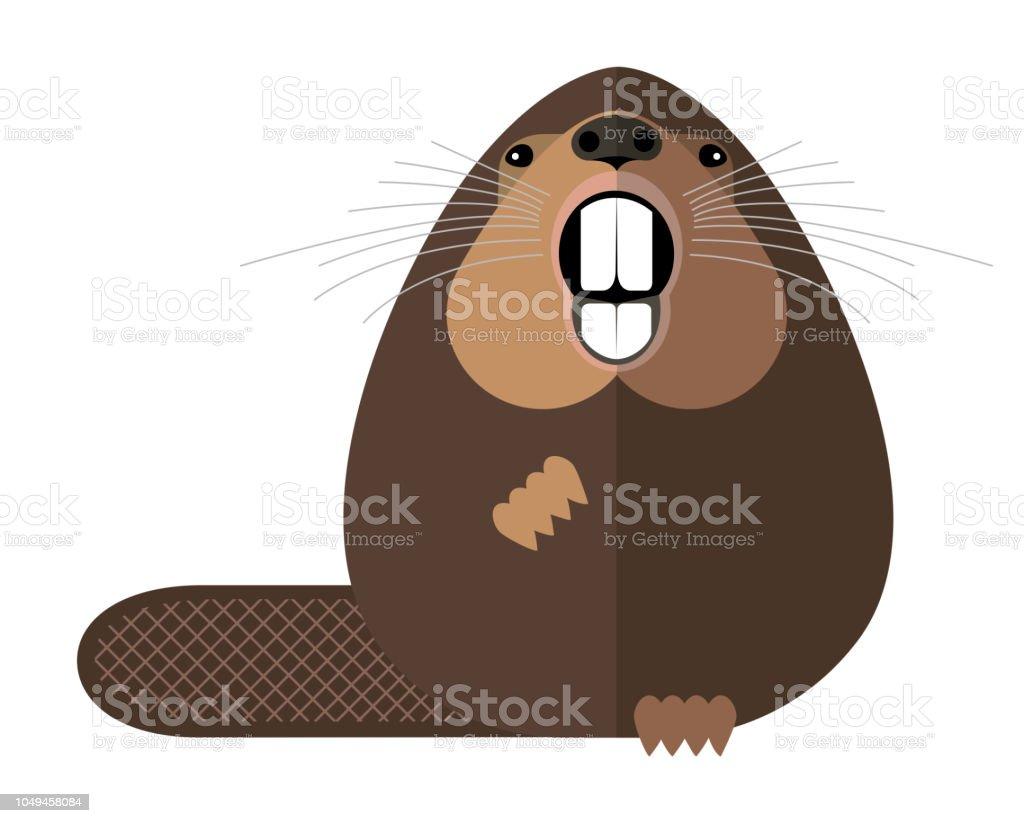 Beaver vector art illustration