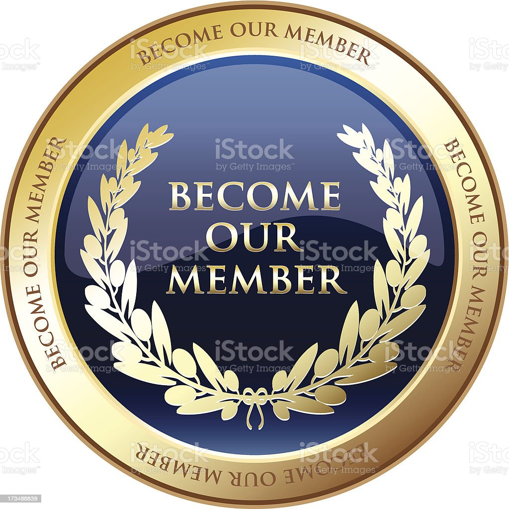 Become Our Member Advertisement Medal royalty-free stock vector art