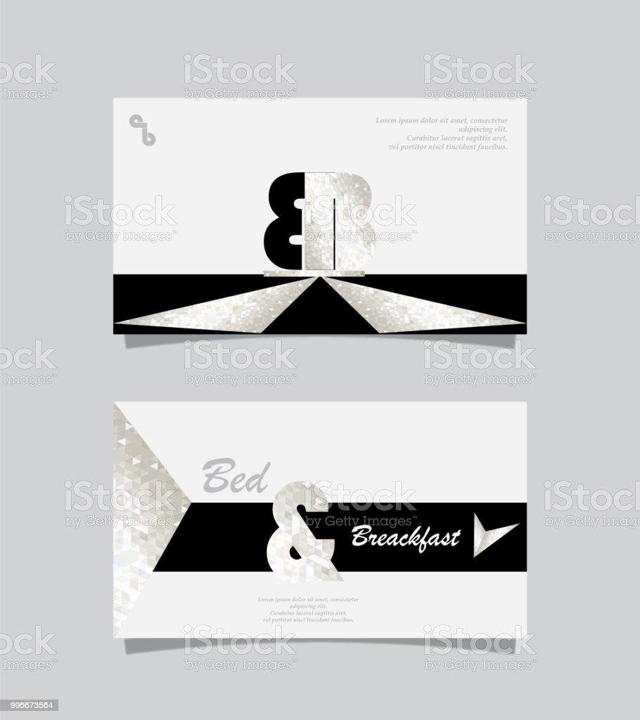Cartes De Visite Chambres Dhotes Cliparts Vectoriels Et