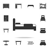 bed icon. Detailed set of furniture icons. Premium quality graphic design. One of the collection icons for websites; web design; mobile app