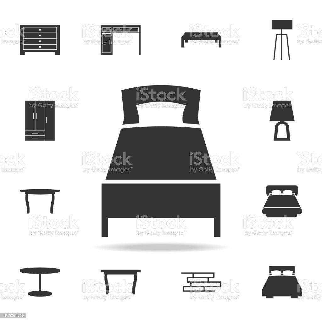 Bettsymbol Detaillierten Satz Mobel Symbole
