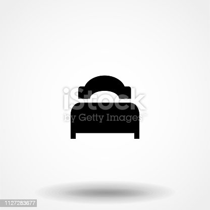 istock Bed Icon. Professional, pixel perfect icons optimized for both large and small resolutions. EPS 10 format. 1127283677