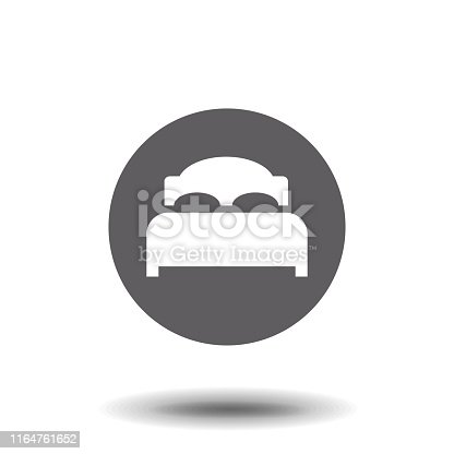 istock Bed Icon. Simple vector illustration for graphic and web design. EPS 10 format. 1164761652