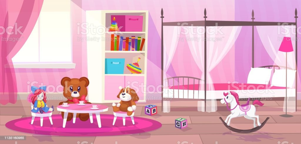 Bed Room Girl Child Bedroom Interior Girls Apartment Toys ...