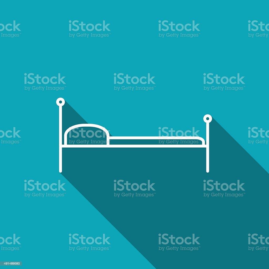 bed vector icon vector art illustration