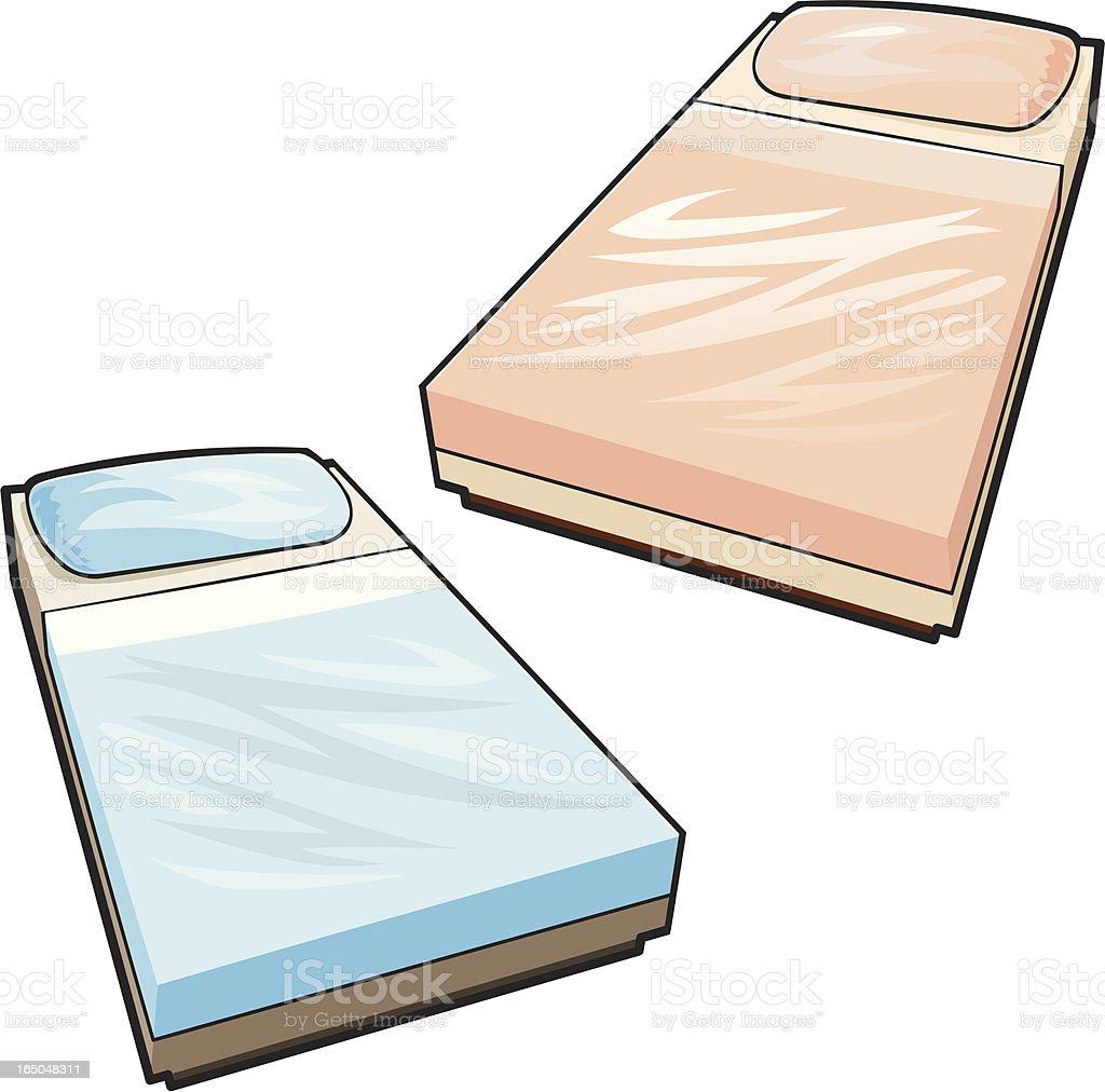 Bed vector art illustration