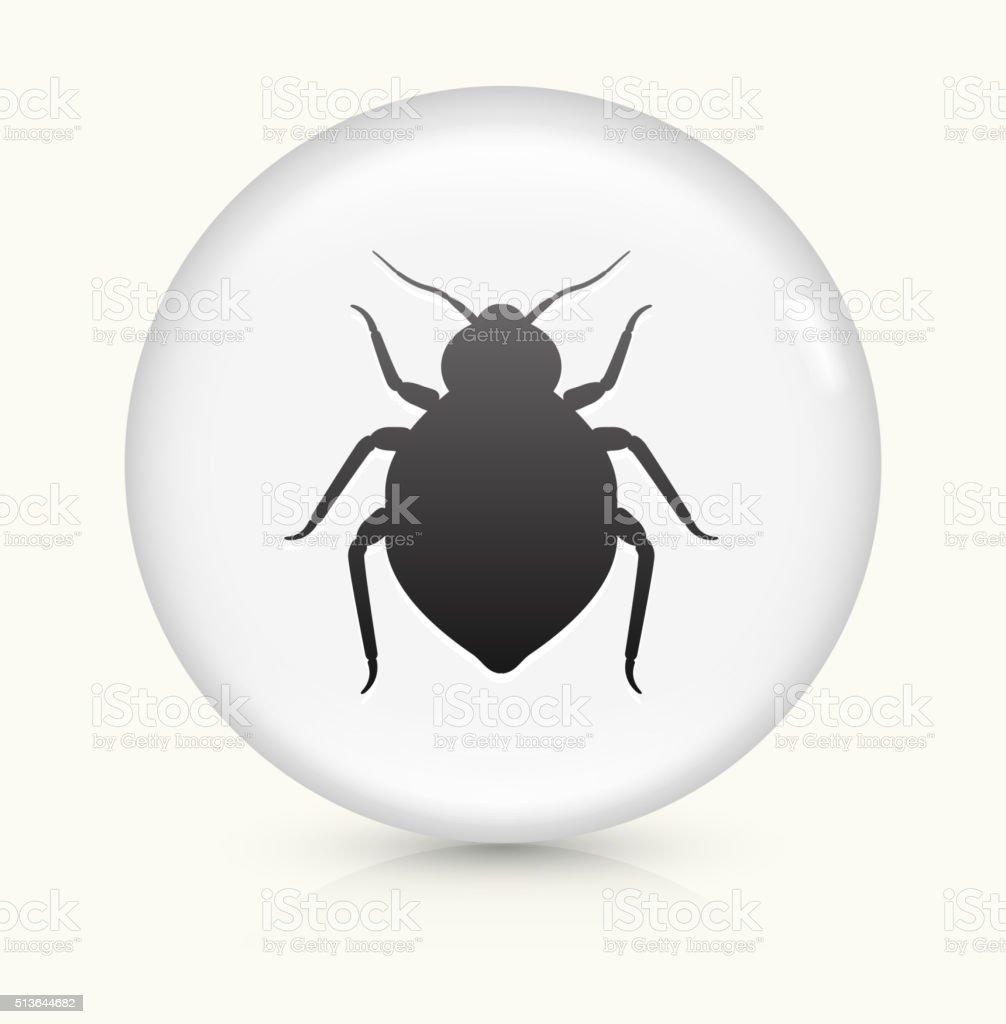 punaise de lit ic ne sur blanc vecteur rond bouton. Black Bedroom Furniture Sets. Home Design Ideas