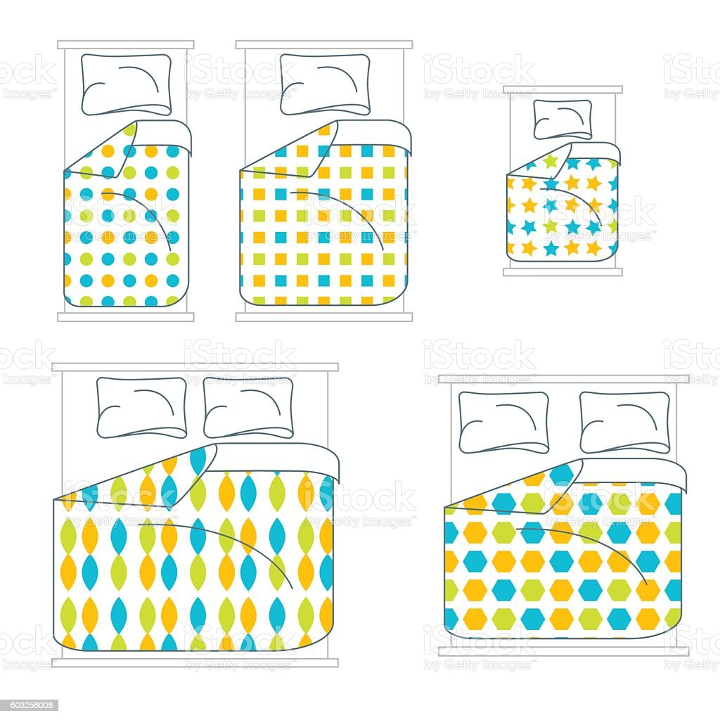 Bedding and Linen Set. Vector vector art illustration