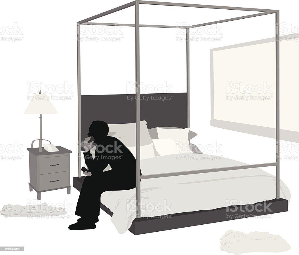 Bedframe royalty-free stock vector art