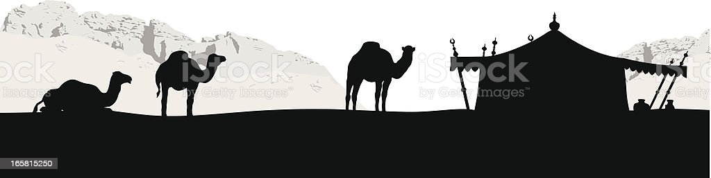 Bedouins Vector Silhouette vector art illustration