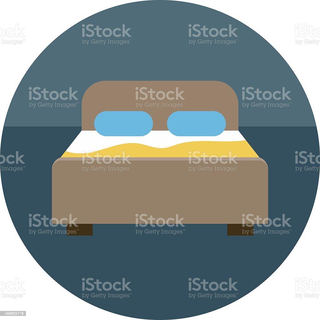 Bedroom Colored Vector Icon vector art illustration