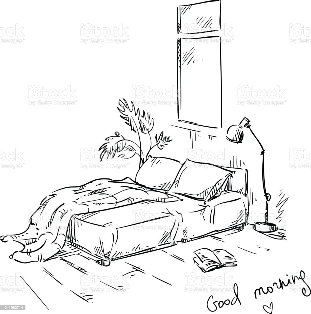Bedroom Drawing Interior Design Stock Illustration Download Image Now Istock