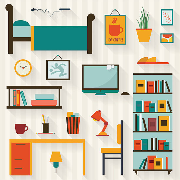 Royalty Free College Dorm Clip Art, Vector Images