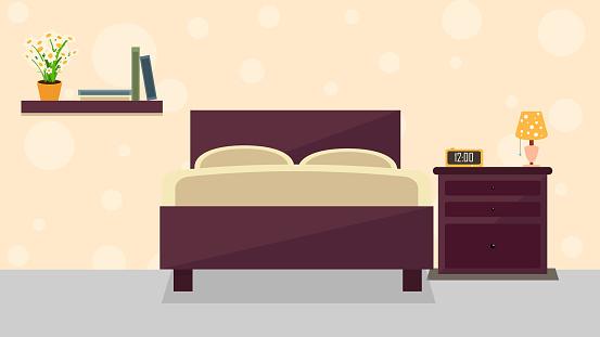 Bedroom interior illustration