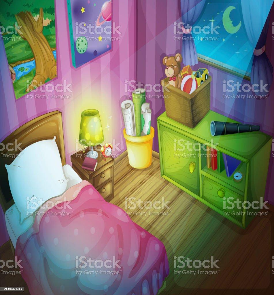 Bedroom royalty-free stock vector art