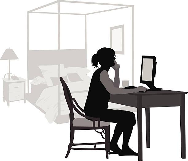 bedroomcomputer - 在宅勤務点のイラスト素材/クリップアート素材/マンガ素材/アイコン素材