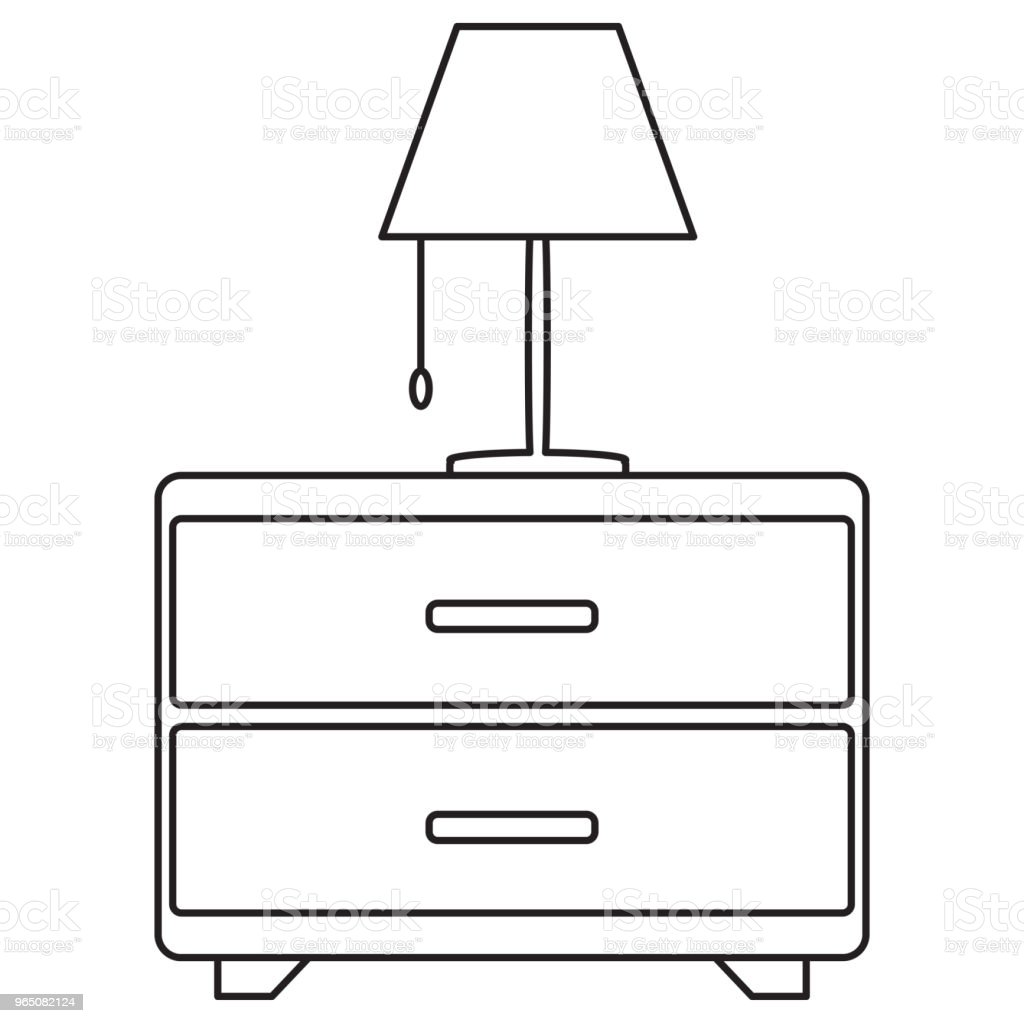 bedside drawer with lamp icon royalty-free bedside drawer with lamp icon stock vector art & more images of apartment