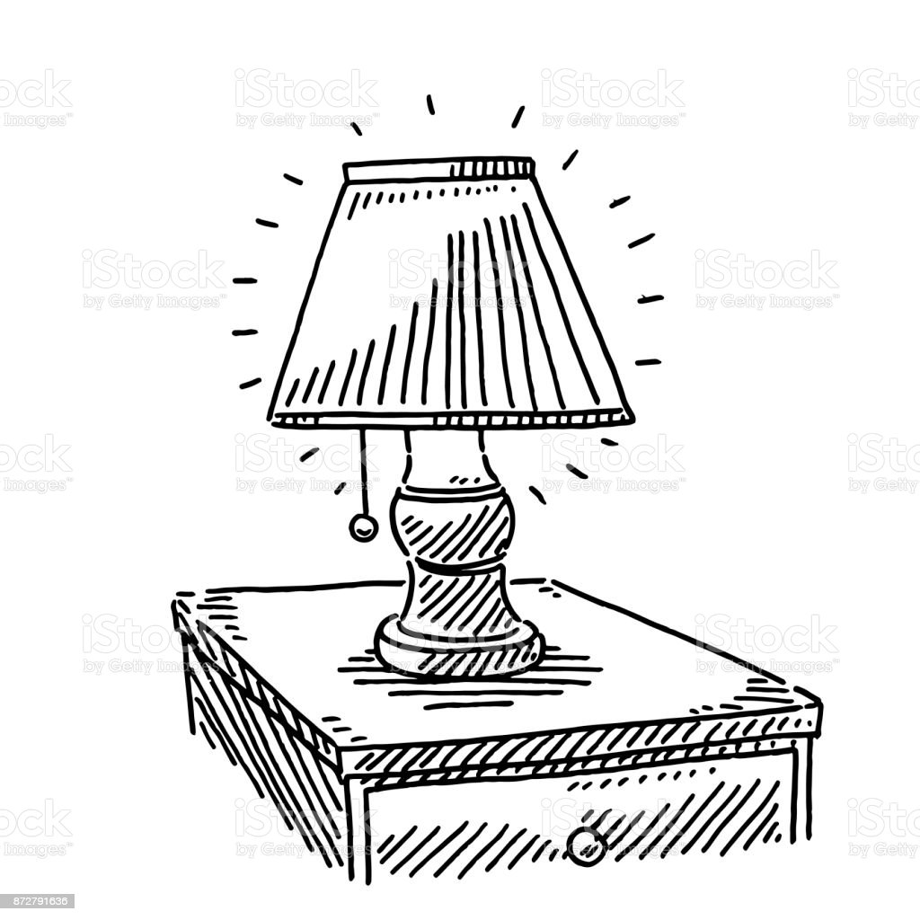 Bedside Lamp Drawing Royalty Free Bedside Lamp Drawing Stock Vector Art  U0026amp; More Images