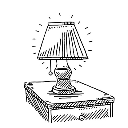 Bedside Lamp Drawing