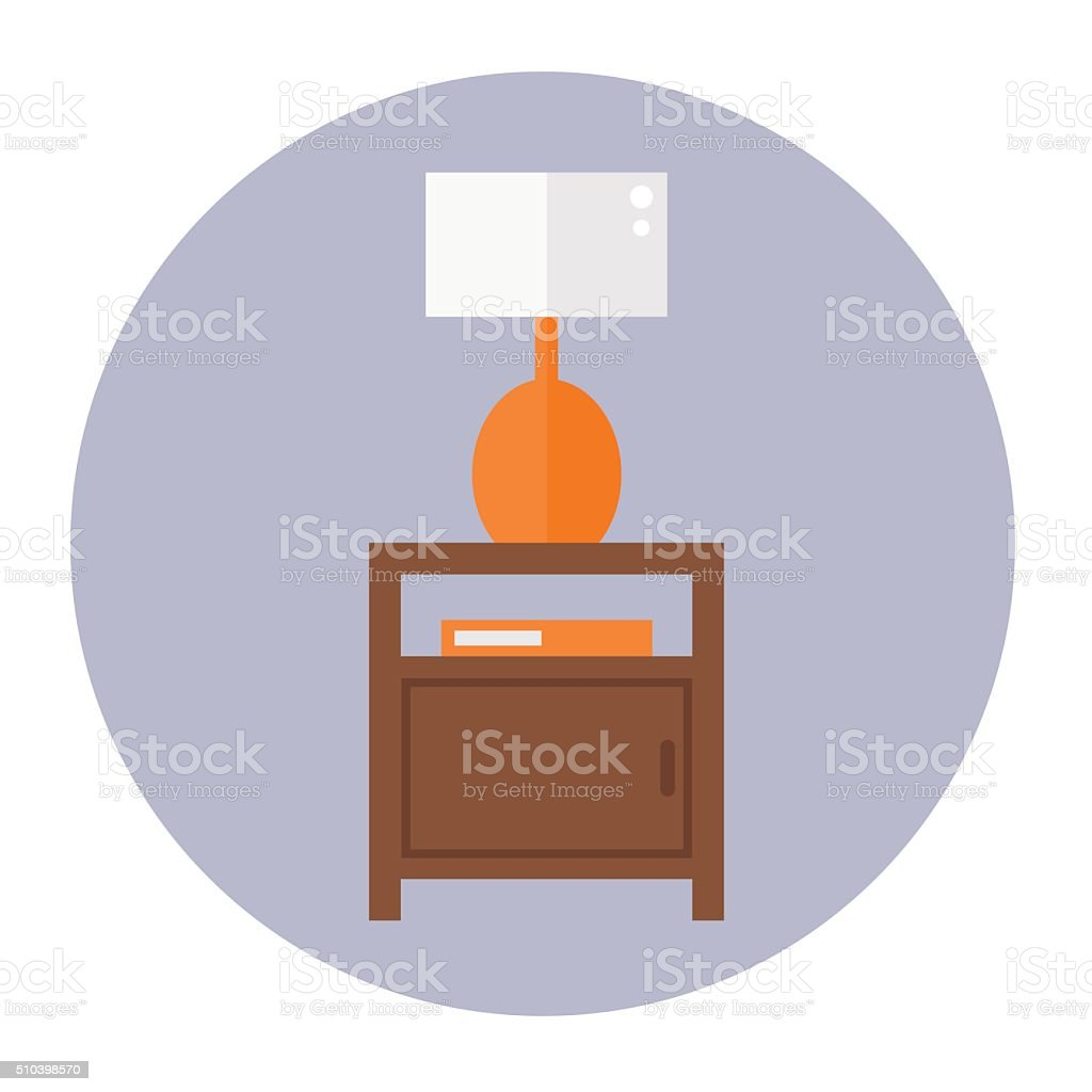 Bedside table clipart  Night Table Clip Art, Vector Images & Illustrations - iStock