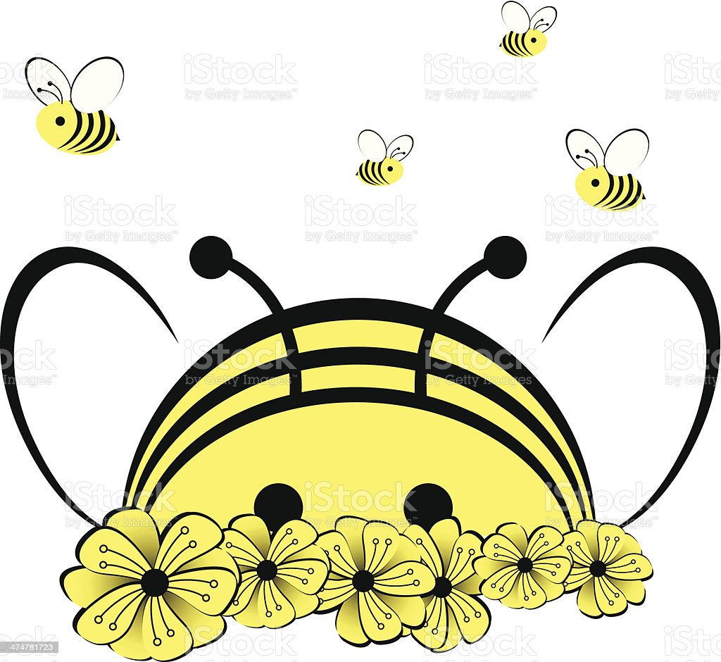 Bee 1 vector art illustration