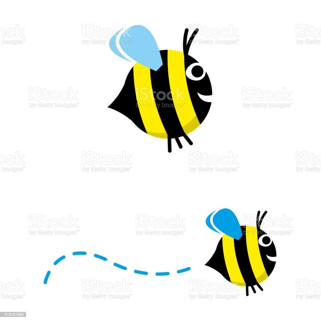 Bee 2 vector art illustration