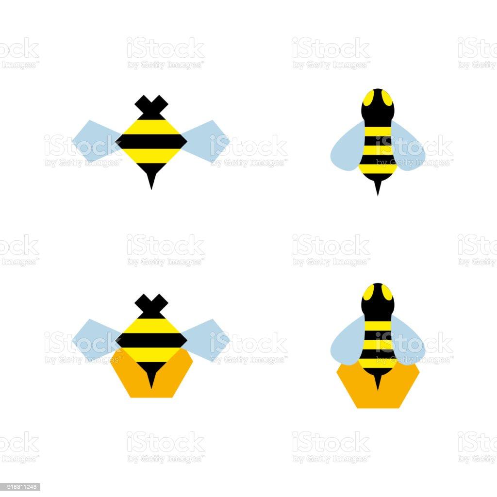 Bee 3 vector art illustration
