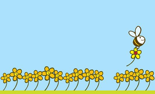 Bee And Flower Stockvectorkunst en meer beelden van Aan het werk