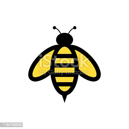 Bee Animal Logo Vector Template. Vector illustration, EPS10.