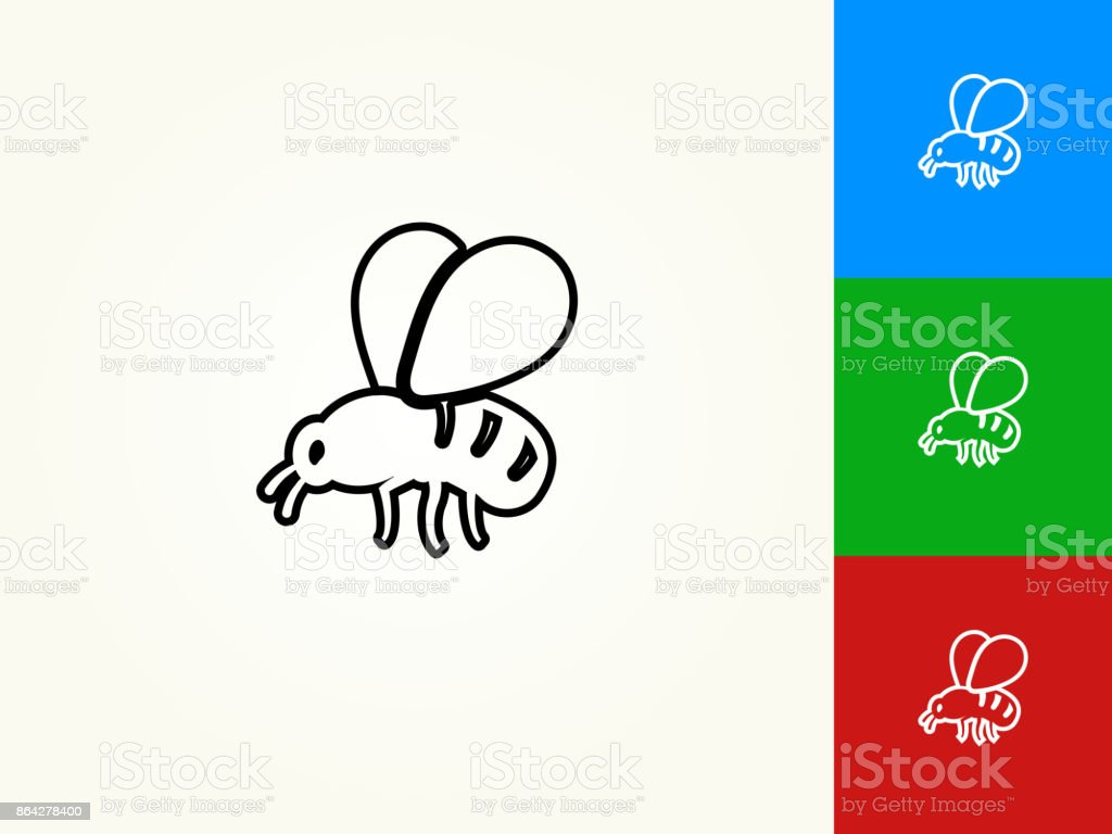 Bee Black Stroke Linear Icon royalty-free bee black stroke linear icon stock vector art & more images of animal body part
