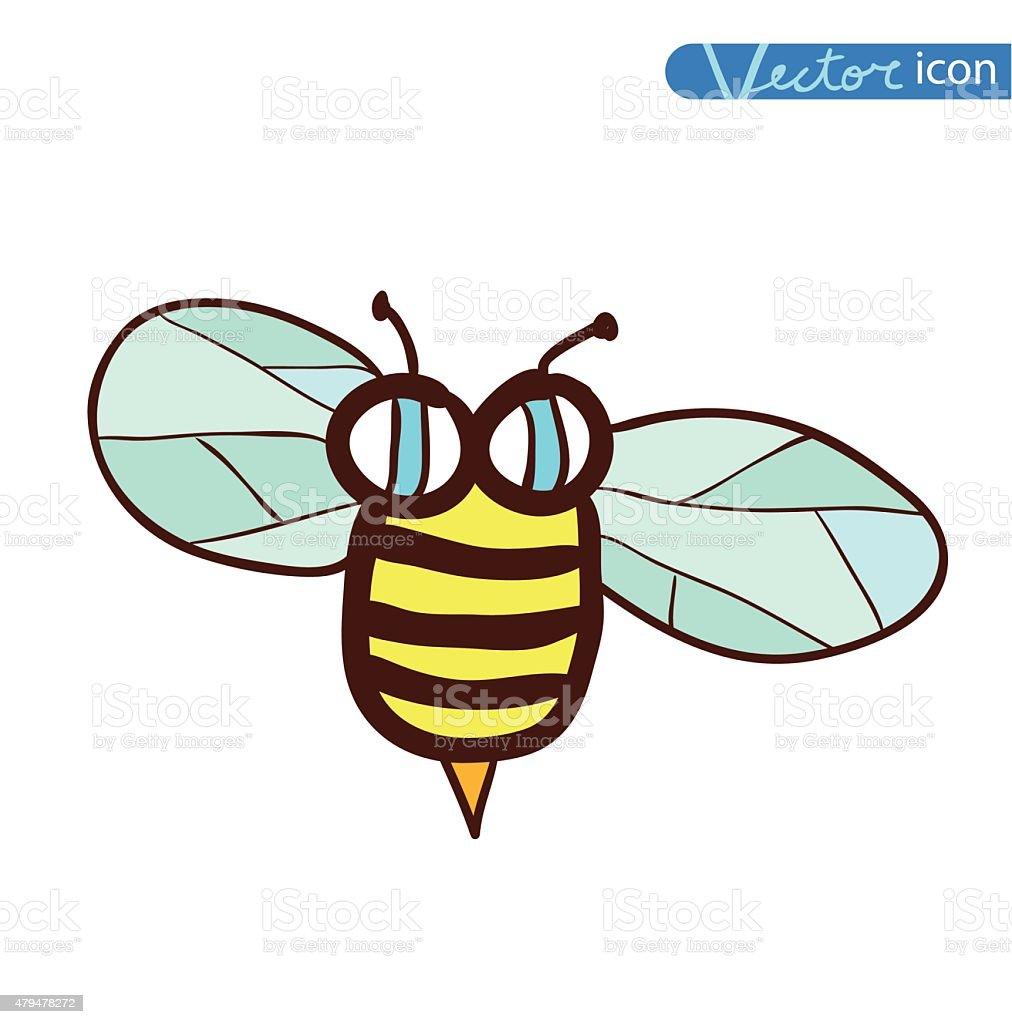 Biene Comic Käfer Und Insektenicon Vektorillustration Stock Vektor ...