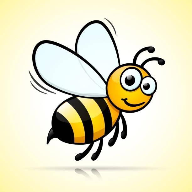 ilustrações de stock, clip art, desenhos animados e ícones de bee design on white background - abelha
