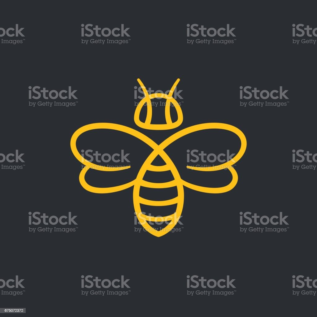 Bee design vector art illustration