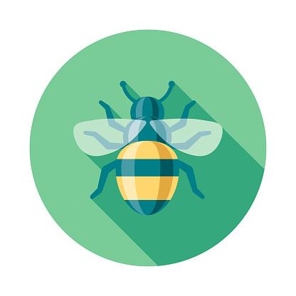Bee Flat Design Springtime Icon