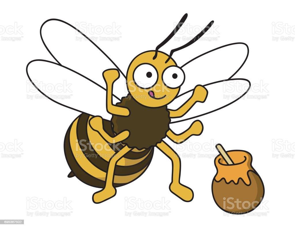 蜂が力を持っています。 ベクターアートイラスト