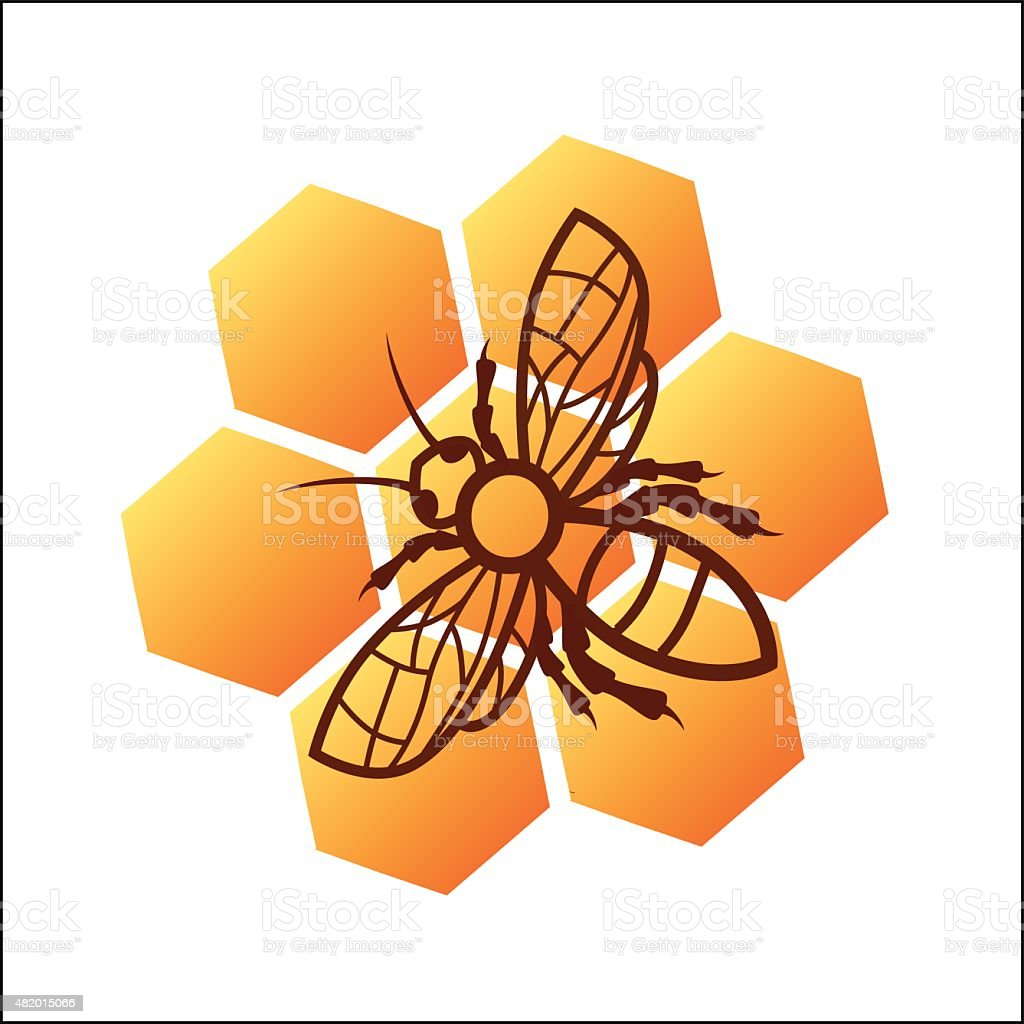 Bee honey logo design royalty free bee honey logo design stockvectorkunst en meer beelden van 2015