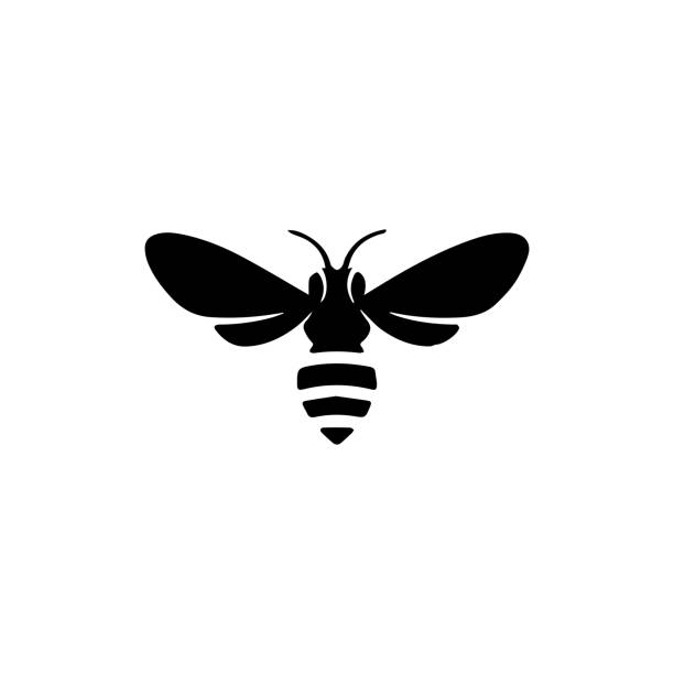Bee  icon. Butterfly  sign Bee  icon. Butterfly  sign fly insect stock illustrations