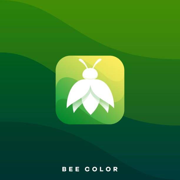 Bee Icon Colorful Illustration Vector Design Template Bee Icon Colorful Illustration Vector Design Template. Suitable for Creative Industry, Multimedia, entertainment, Educations, Shop, and any related business. arthropod stock illustrations