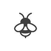 istock bee icon on the white background 859335688