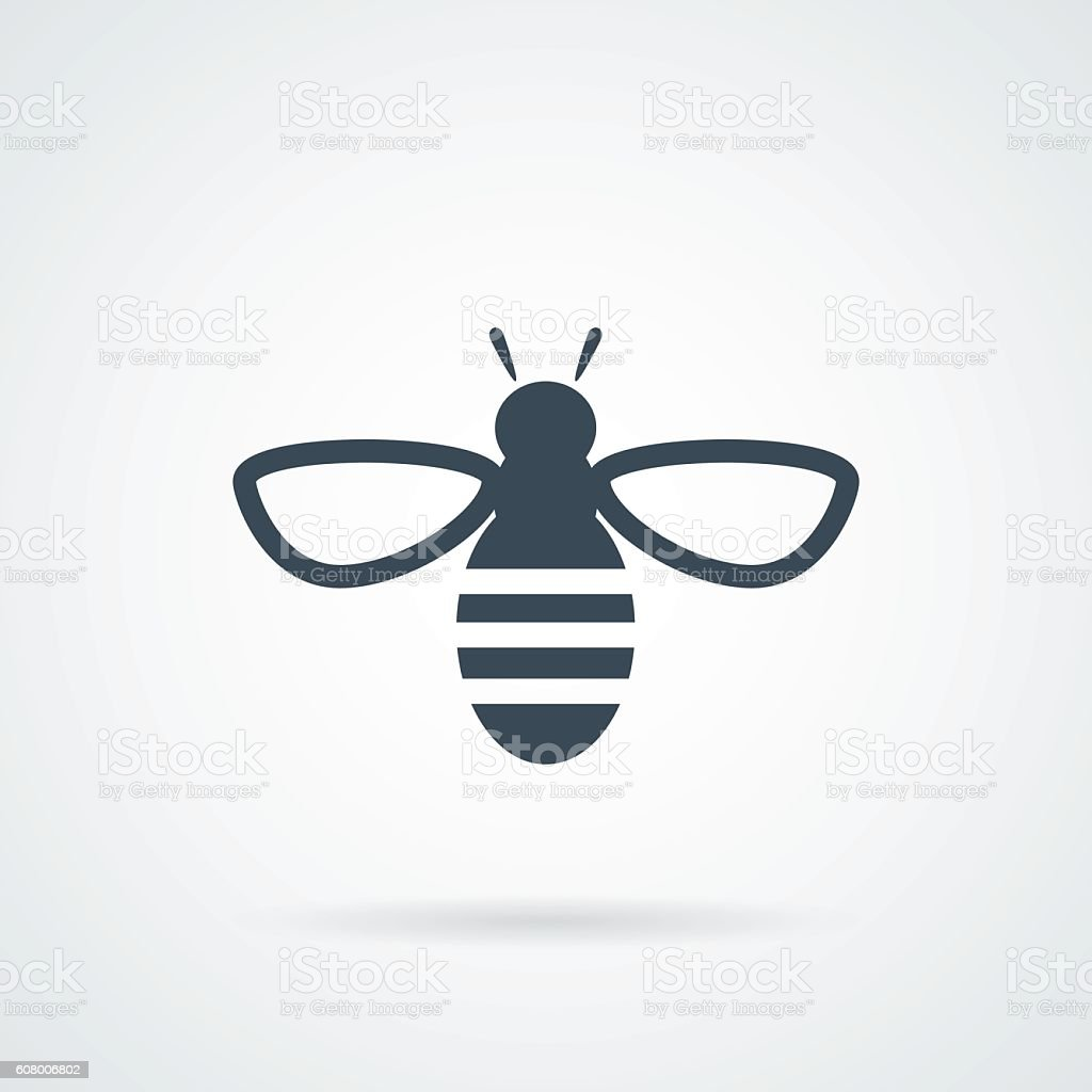 Bee icon. Vector concept illustration vector art illustration