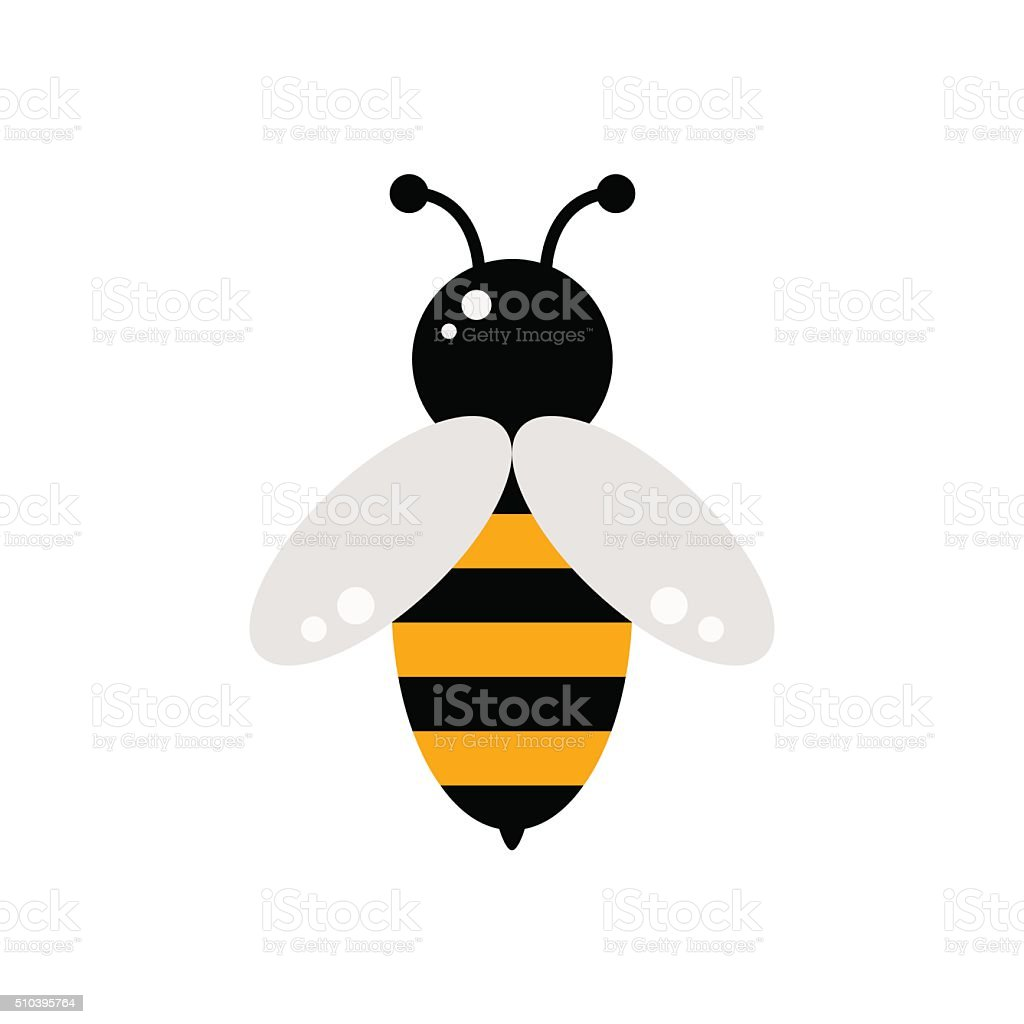 Bee icon. vector art illustration