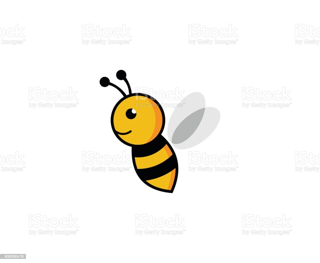 Bee icon vector art illustration