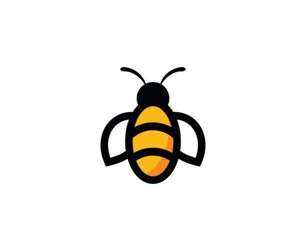 Bee icon vector art illustration