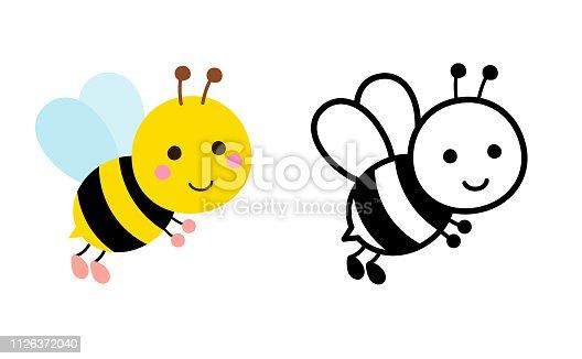 Bee illustration set