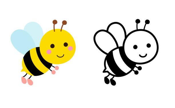 Bee illustration set Bee illustration set bee clipart stock illustrations