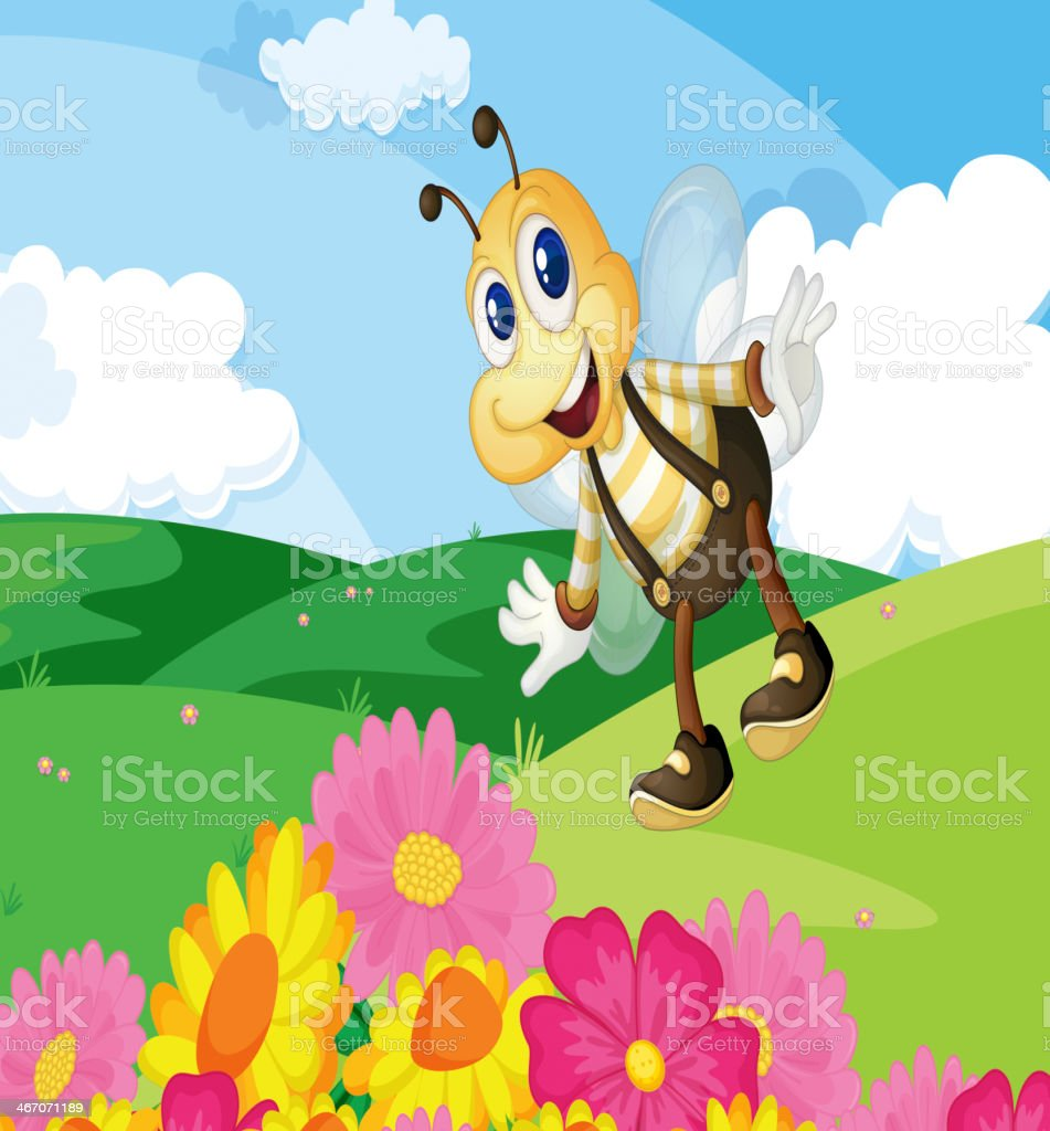 Bee in the field royalty-free bee in the field stock vector art & more images of animal