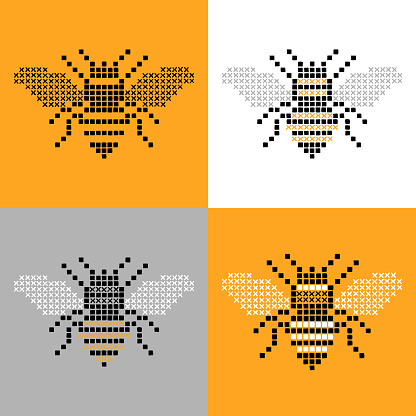 Bee Insect Cross Stitch Simple Set