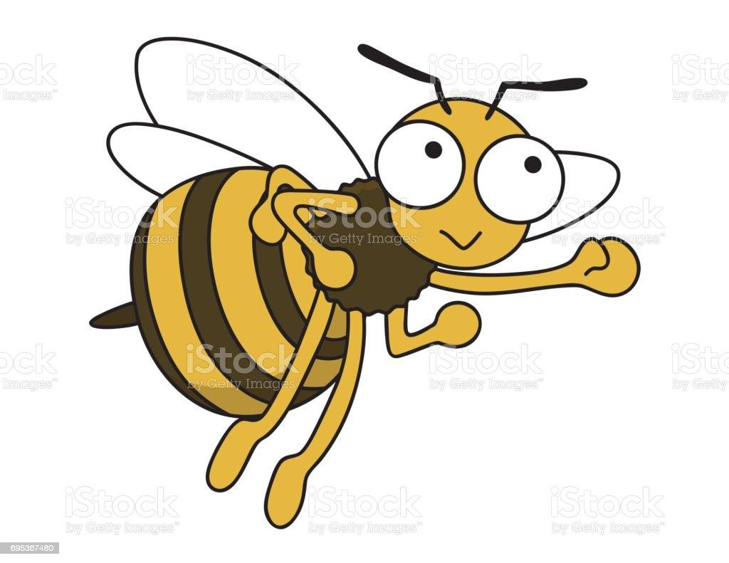蜂は働き者 ベクターアートイラスト
