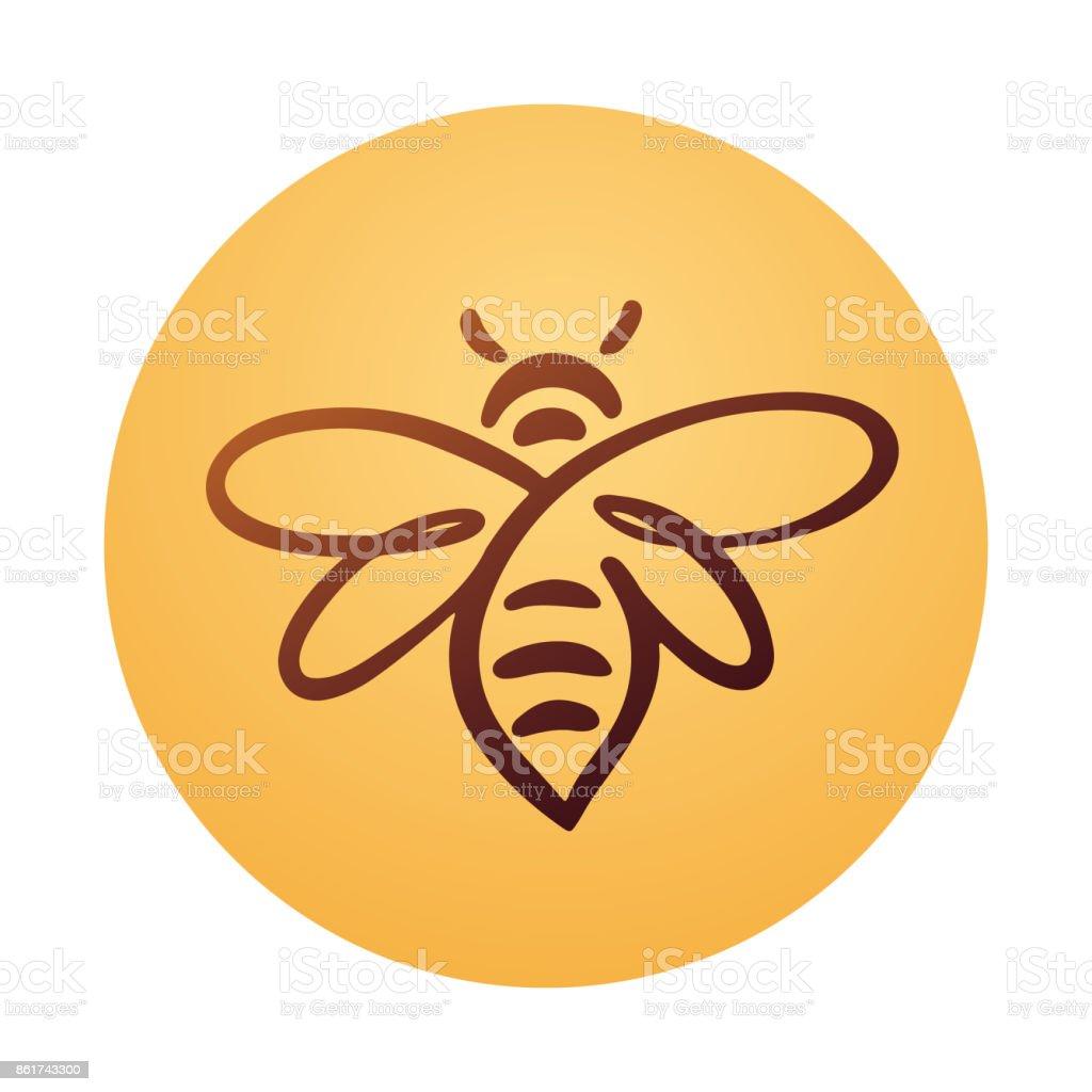 Ilustración de Abeja Logo Vector De La Abeja Miel y más banco de ...