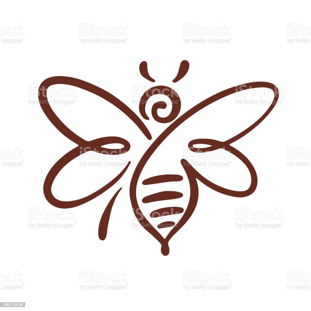 Logo de l'abeille, vecteur d'abeille, miel - Illustration vectorielle